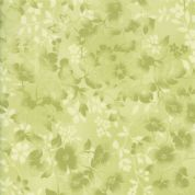 Moda - Sakura Park - 7195 - Green Watercolour Blossoms - 33484-22 - Cotton Fabric